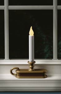 Fpc1325B Led Holiday Window Candles With Two Flame Colors In Window In Window