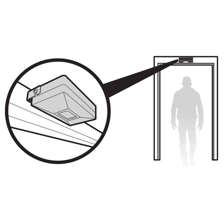 Sl-40 Battery Powered Motion Sensor Entrance Alert Over Door