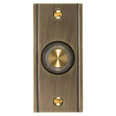 Wired Doorbell Button Solid Antique Brass Base Dh1631l V 1 2 - Solid Brass Wired Button Lighted LED In Different Finishes